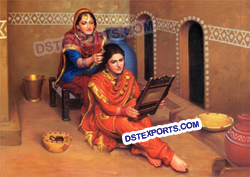 Punjabi Ladies Fiber Glass Statues