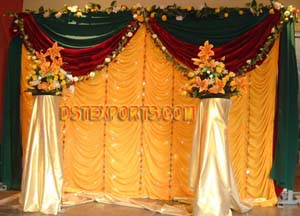 Wedding New Designer Golden Backdrop