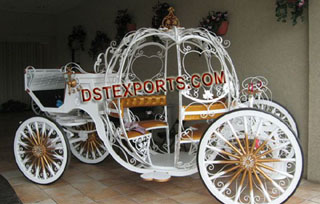 Golden Wedding Cindrella Horse carriages