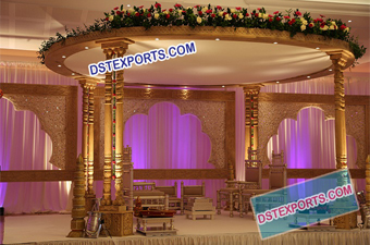 New Twin Pillar wooden Mandap