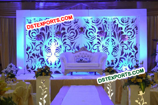 Indian Wedding Stylish Backdrop Panel