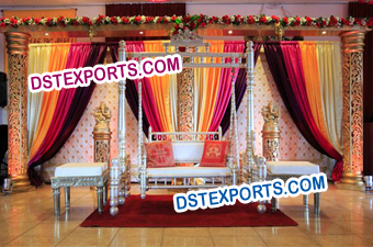Indian Wedding Mehndi Stage Decor