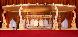 Indian Wedding Wooden Peacock Mandap Set