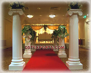 Wedding Roman Pillars