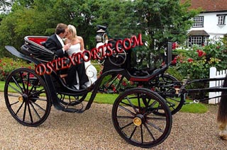 New Black Victoria Horse Carriages