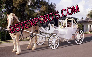 New Wedding Covered Horse Drawn Carriage