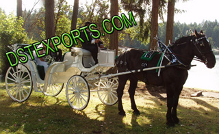 Victoria White Horse Carriage