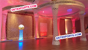 Wedding Fiber Crystal Mandap With LED Lights