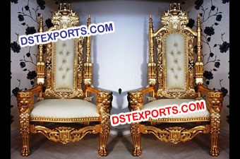 Royal Wedding Golden Chair Set