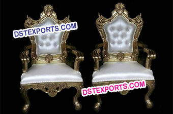 Asian Wedding Gold Brass Metal Chairs