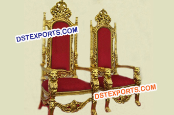 Golden Lion Crown Chair Set For Wedding