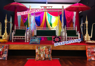 Punjabi Wedding Mehndi Stage