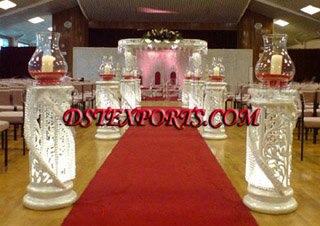 Wedding New Fiber Crystal Aisle Way Pillars