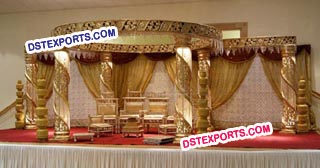 Wedding Gold Crystal Zali Mandap