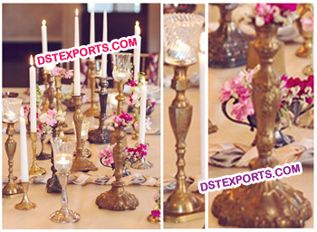 Wedding Decor Brass Candlabras
