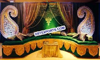 Muslim Wedding Stage Backdrop Decoration