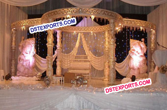 Indian Wedding Crystal Ganesha Mandap