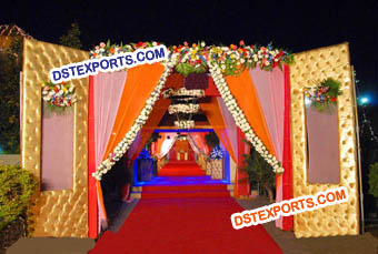 Indian Wedding Paded Panel Wel Come Gate