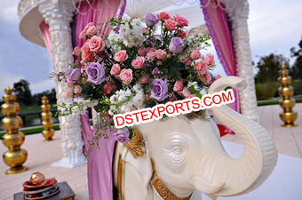 Indian Wedding Decor Fiber Elephant Statue