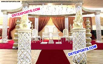 Latest Style Wedding Crystal Mandap Stage Dec