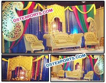 Designer Wedding Mehandi Stage Decorations