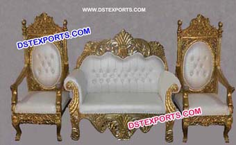 Royal Wedding Ancient Gold Furniture Chaise S