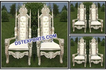 Wedding Bride & Groom Designer Wooden Chairs