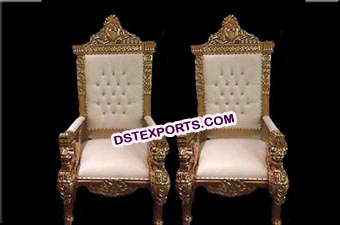 Royal look Wedding maharaja King & Queen chairs