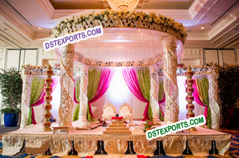 Wedding Designer Spiral Crystal Mandap Set