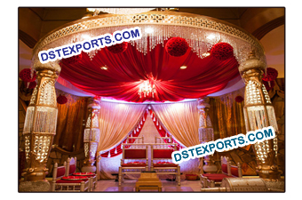 Wedding Grand Bottle Crystal Mandap