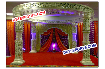 Royal Wedding Beautiful Crystal Mandap