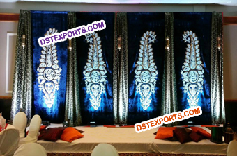 Wedding Stage Paisley Backdrop Decoration