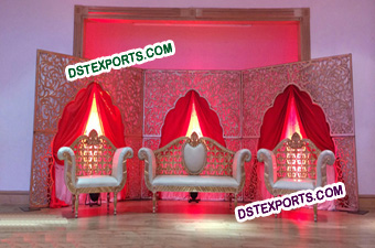Muslim Wedding Carved Stage Backdrop Panels