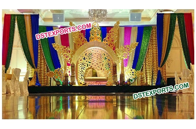 Wedding Stage Sun Fiber Backdrop Frames Set