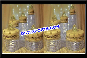 Wedding Gold Crystal Cake Stands