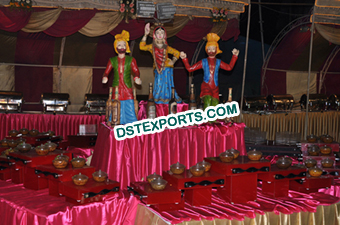 Wedding Small Bhangra Statue Food Stall Decoration