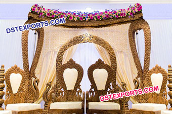 Peacock Theme Wedding mandap Stage Decor