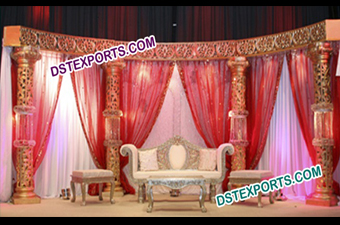 Bollywood Wedding Crystal Stage Set