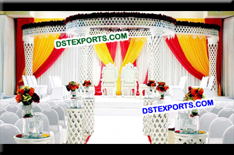 Wedding Plazo Crystal Mandap Set