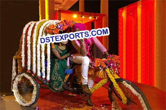Decorated Rickshaws For Punjabi Weddings