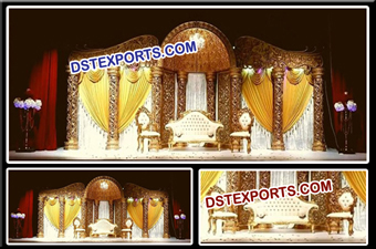 Beautiful Gold Stage for Indian Wedding Ceremony