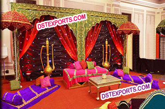 Wedding Mehandi Stage Decoration