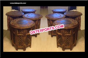 Wooden Handicraft Wedding Mehandi Table
