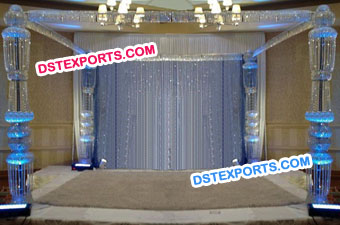 New Hanging Crystal Mandap Set
