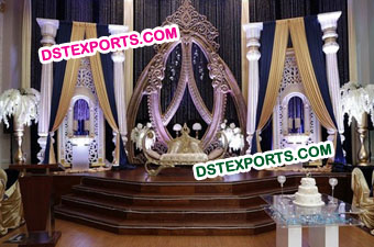 Royal Asian Wedding Stage Decorations