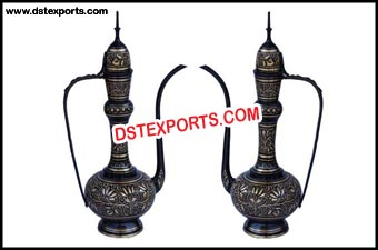 Brass Metal Black Aftab For Decoration
