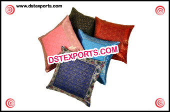 Indian Wedding Decorated Silk Cushion Covers