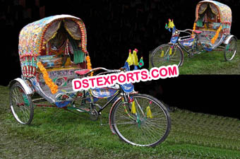 Punjabi Wedding Decorated Rickshaw