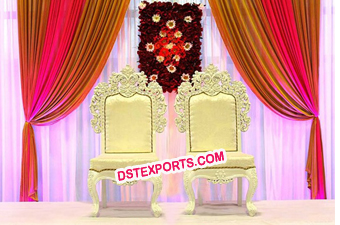 Indian Wedding wooden hand carved Mandap Chairs