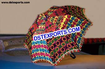 Latest Wedding Phulkari Embroidery Umbrella/Parsol